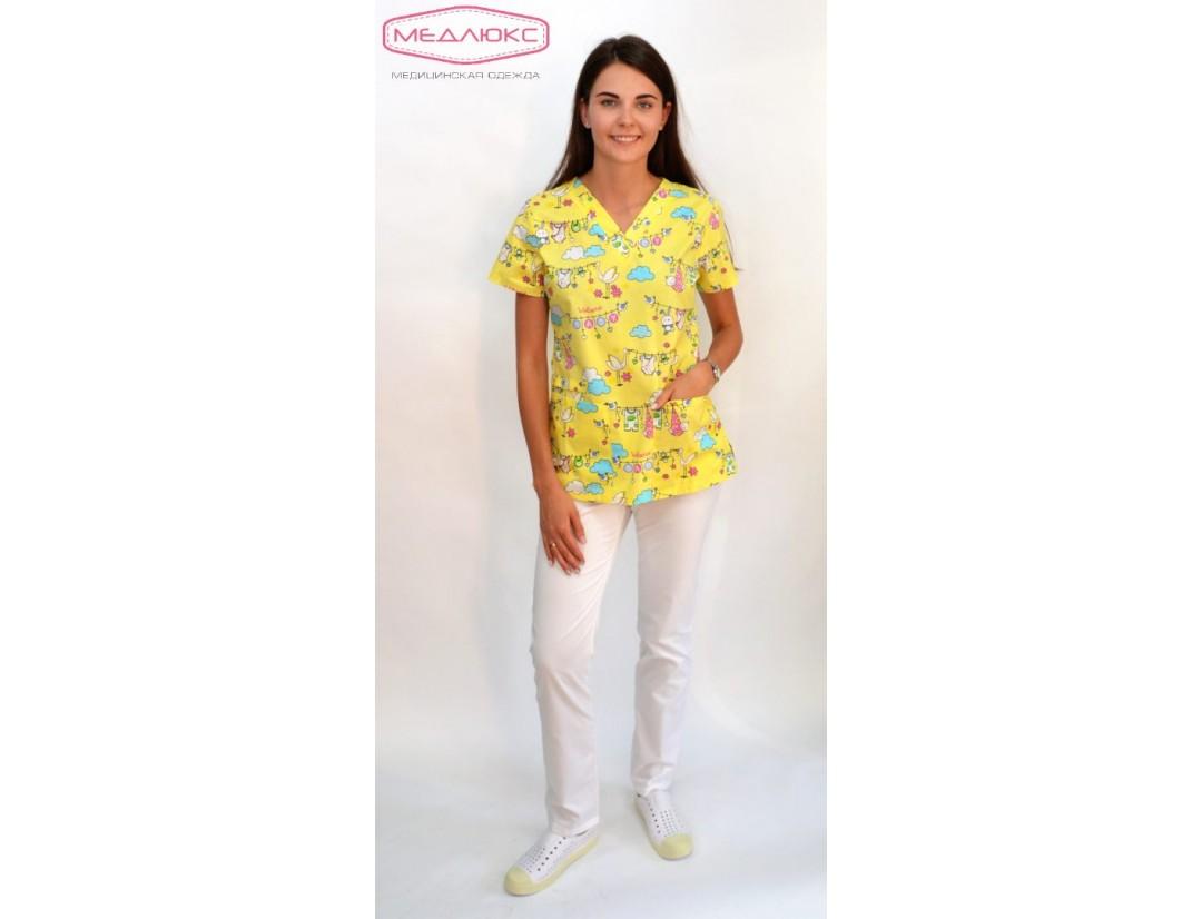 Женские медицинские брюки Cameo (Твил-стрейч) 5-1 024