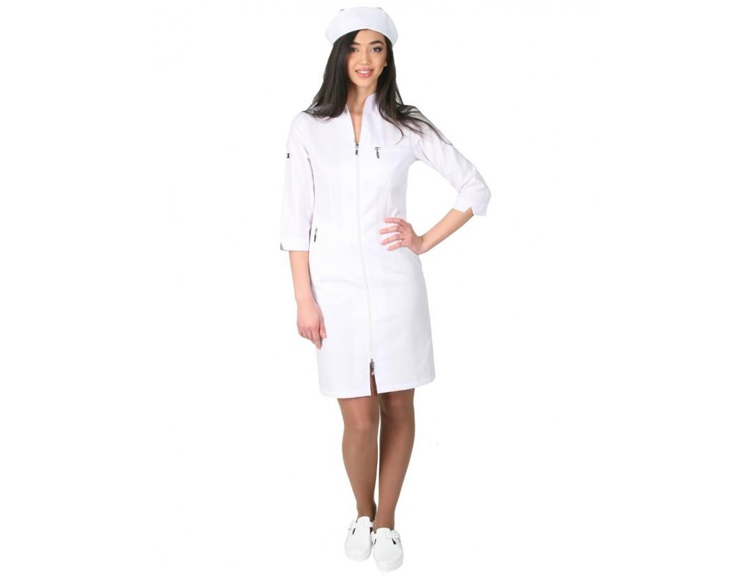 Женский медицинский халат Модный Доктор (VOGUE) 5012Zm- М