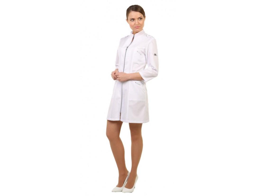 Женский медицинский халат Модный Доктор (VOGUE) 10282/1Zm -M