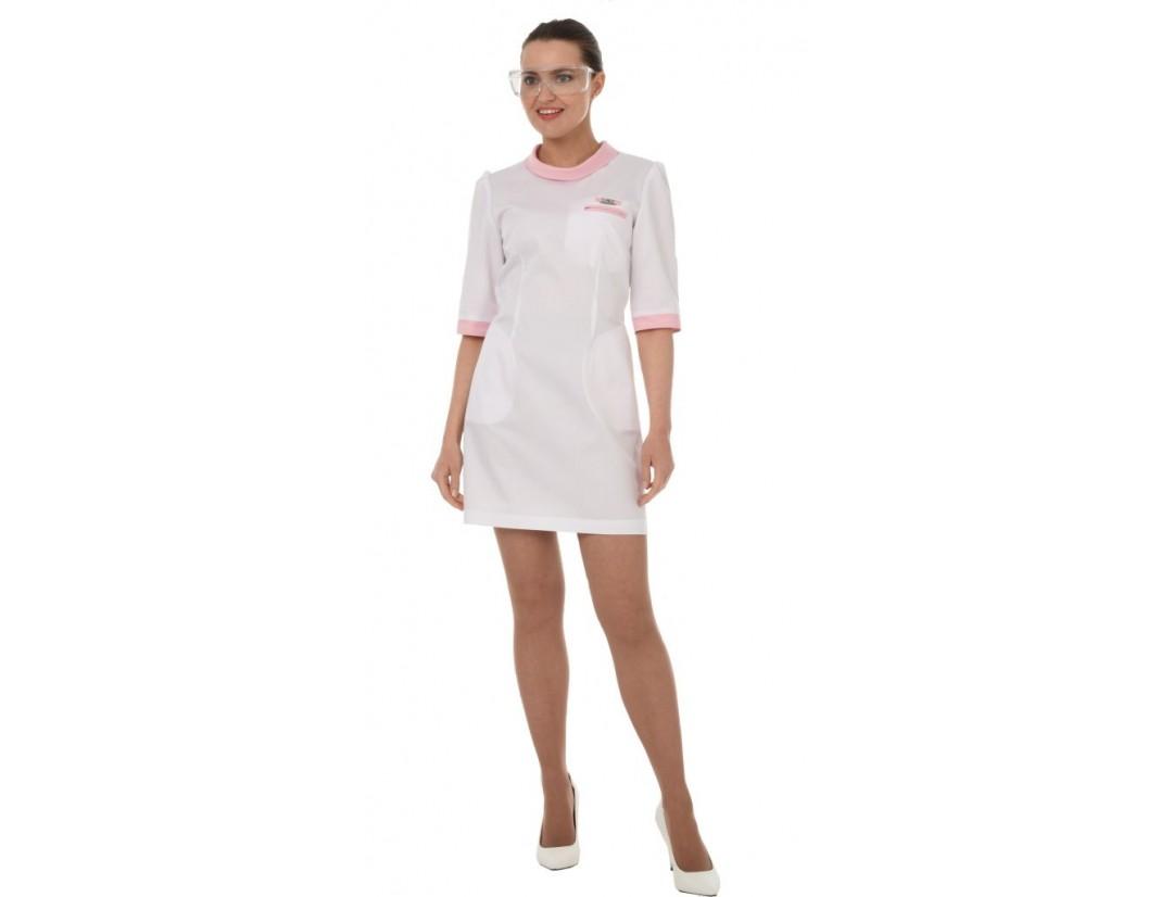 Женский медицинский халат Модный Доктор (VOGUE) 10524CmKn
