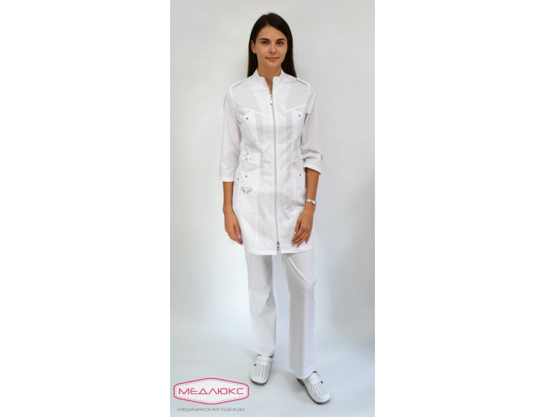 Женский медицинский халат Модный Доктор (VOGUE) 5892-М/1Zsm