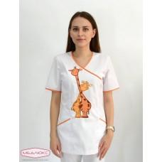 Женская медицинская куртка Maxima (Cатори) c Жирафом 411/70/1 КХВ