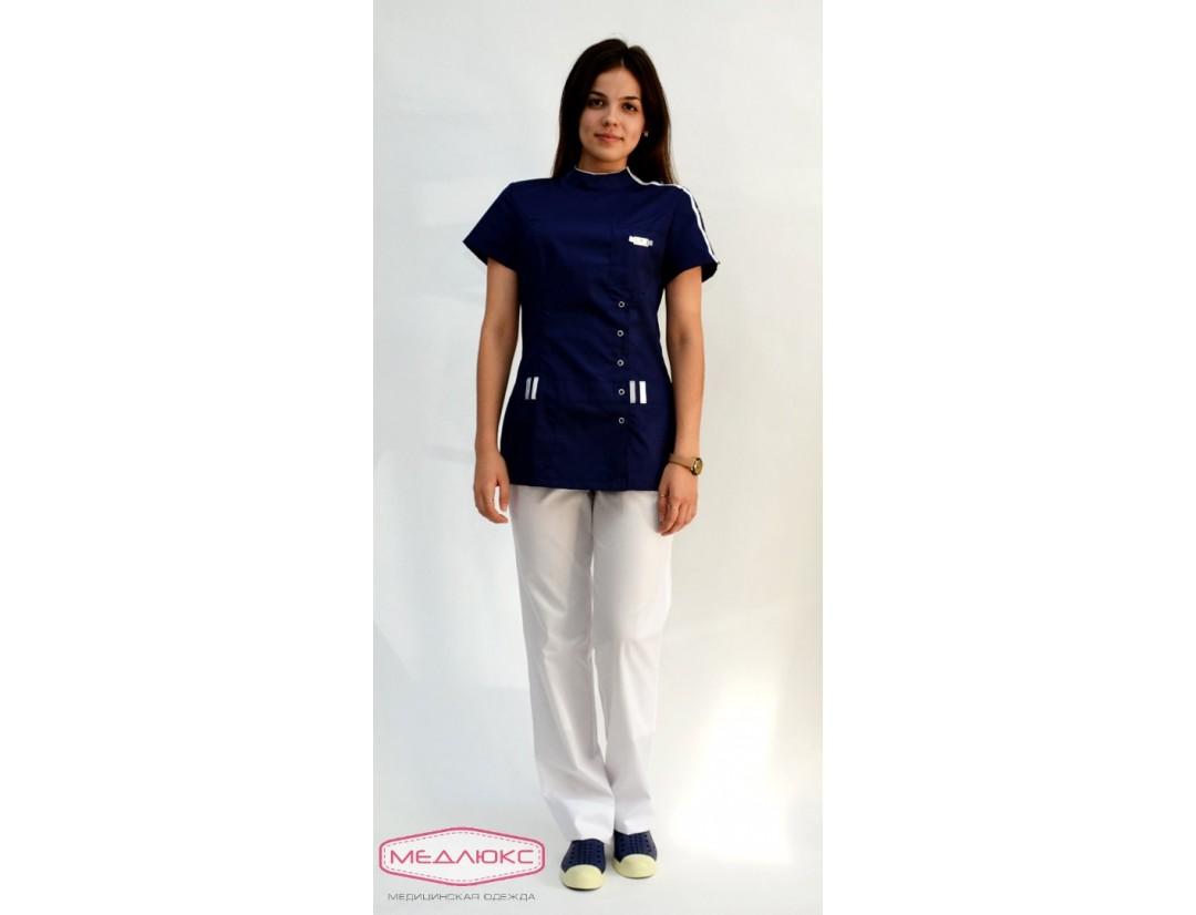 Женский медицинский блузон Модный Доктор (VOGUE) 461-М/1б