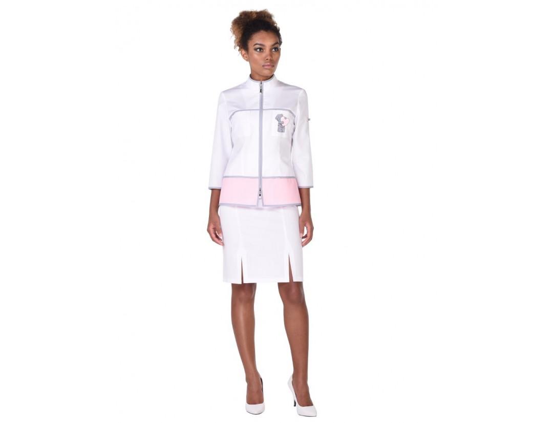 Женский медицинский блузон Модный Доктор (VOGUE) 5454C/1ZLmб- M